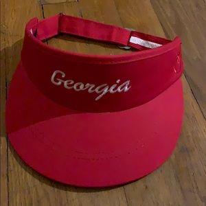 Red Georgia peach state pride visor